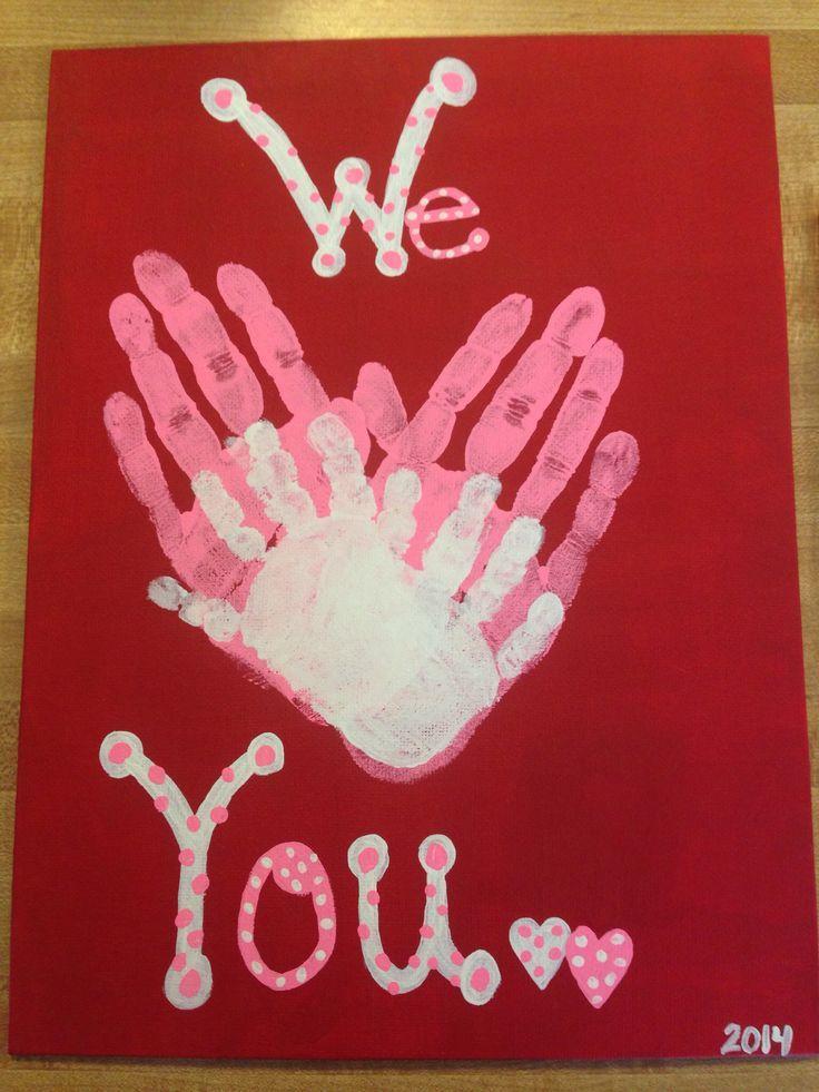 We Heart You Handprints Mug