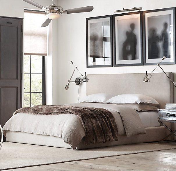 Restoration Hardware Headboards: Sullivan Fabric Platform Bed