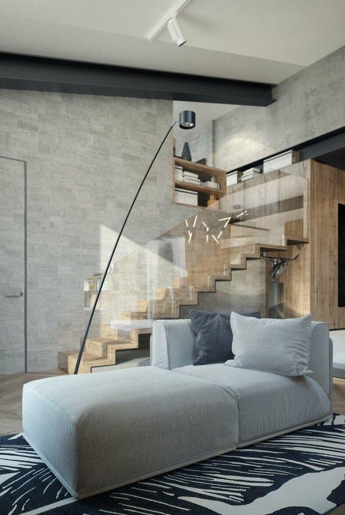 ideen für wandgestaltung wohnzimmer wandfliesen betonoptik Pinterest - ideen wandgestaltung wohnzimmer