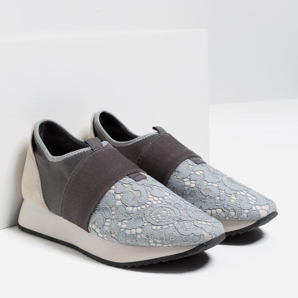 1e712c6a46 LACE SNEAKERS-Sneakers-SHOES-WOMAN | ZARA Turkey | Sweet Sneakers ...