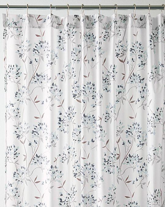 Wrinkle Resistant Lacecap Hydrangea Shower Curtain