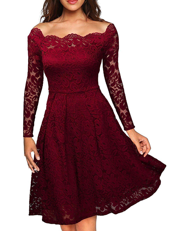 Slash neck lace semi formal dress cheap fashion semi formal