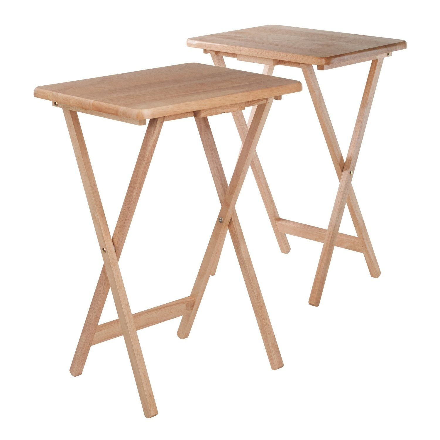 Winsome Alex 2 Piece Solid Wood Foldable Snack Table Set