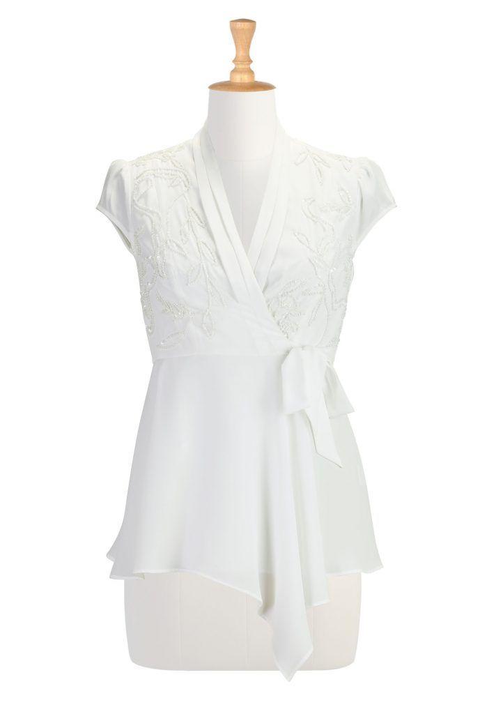 White Evening Blouses Evening Blouses Blouses Style Inspirations