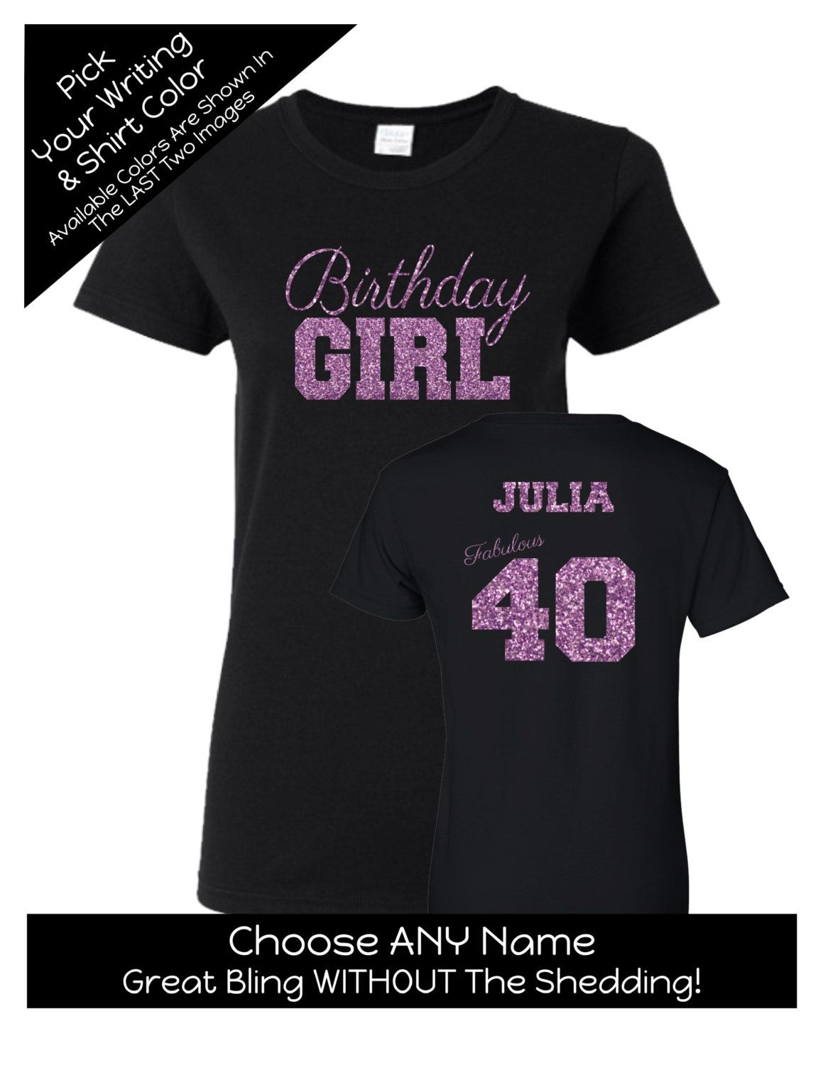 Birthday Girl Fabulous 40 Shirt