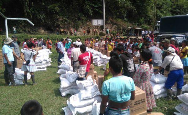 Unidad para las Víctimas entregó ayudas humanitarias a indígenas de Pueblo Rico Risaralda