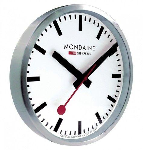 Mondaine Swiss Railway Wall Clock Mondaine Wall Clock Wall Clock Design Clock