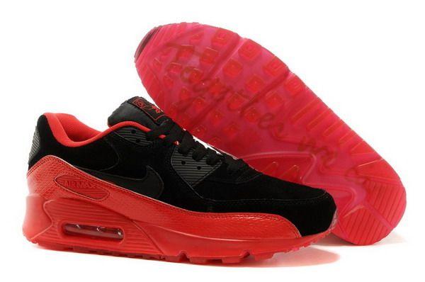 Air Max 90 Womens Shoe Black / Red