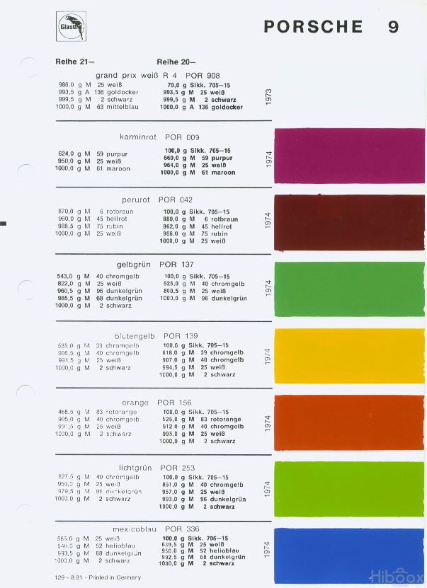 yellowbird color code por 139 blutengelb pelican parts technical rh pinterest com Electric Wire Color Code USA USA Wiring Color Codes