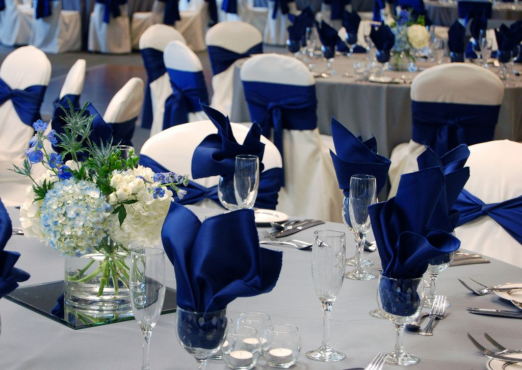 Royal Blue Gray Wedding Ballroom At Oak Ridge Decor By