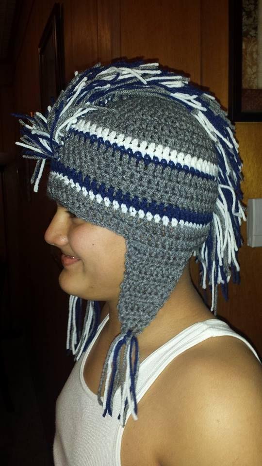 Dallas Cowboy Mohawk Beanie   Beanie, Winter hats, Crochet