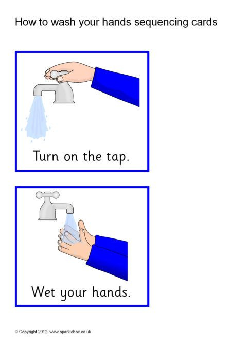 How To Wash Your Hands Sequencing Cards Sb8836