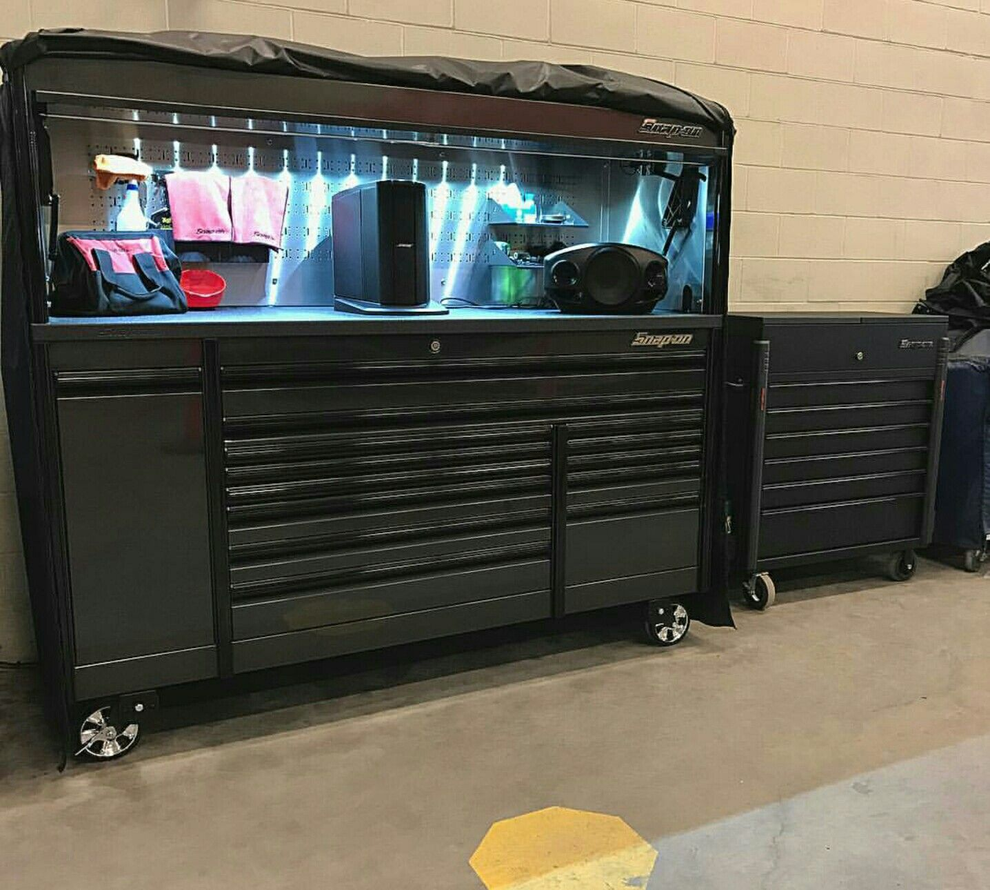 Shop Tool Boxes Bad Ass Setup Tools In 2019 Garage Tools Shop Tool Boxes