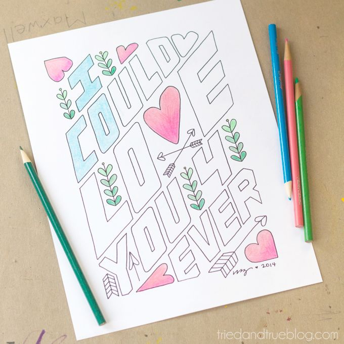Love You Forever Free Coloring Page Desenhos