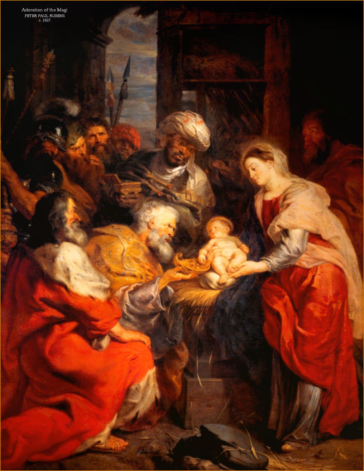 Adoracion De Los Reyes Magos Peter Paul Rubens Arte Magos