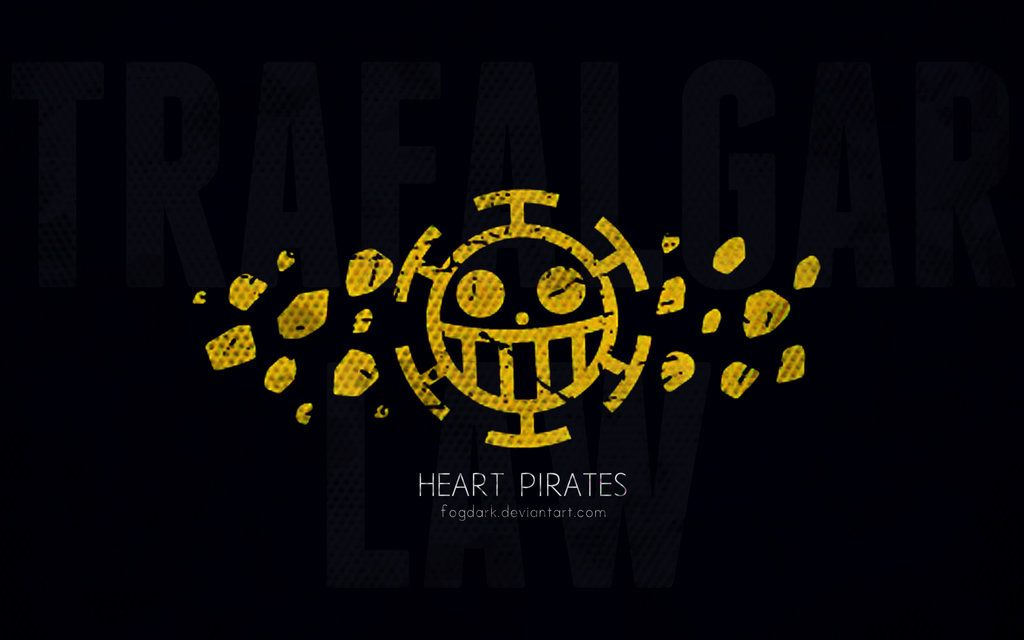 Minimalistic Heart Pirates Wallpaper Trafalgar Law Wallpapers One Piece Logo One Piece Pictures