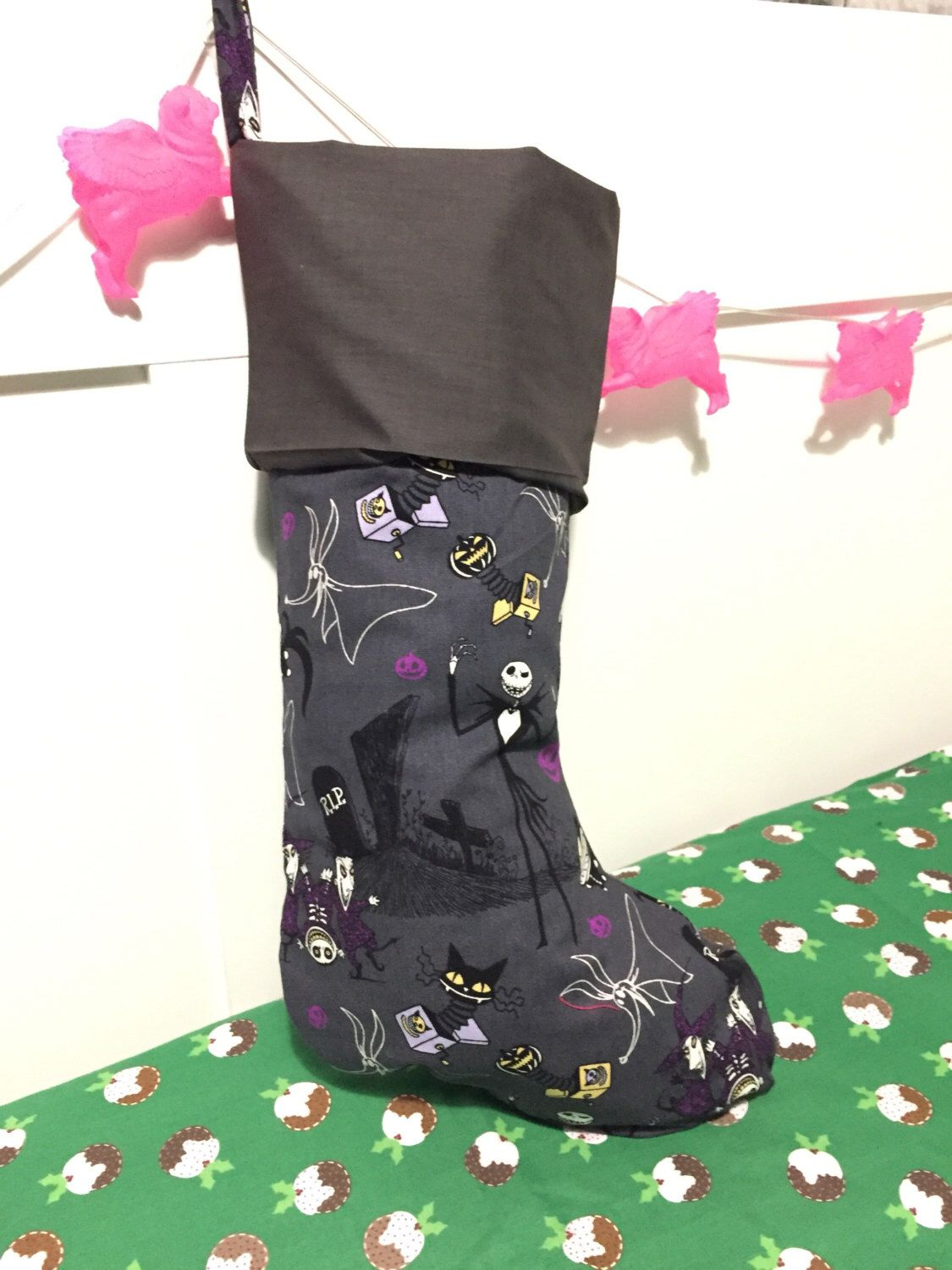 Nightmare Before Christmas stocking by StitchNNerdy on Etsy https ...