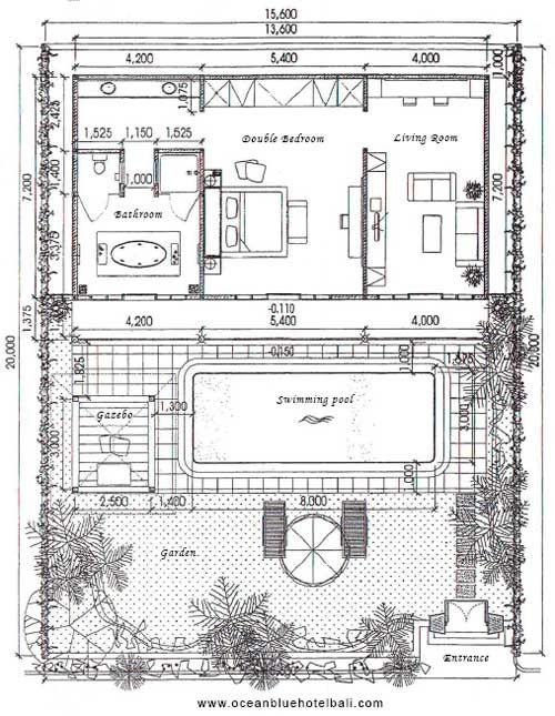Grand Deluxe One Bedroom Pool Villa Floor Plan Hotel Floor Plan Hotel Floor Hotel Room Design