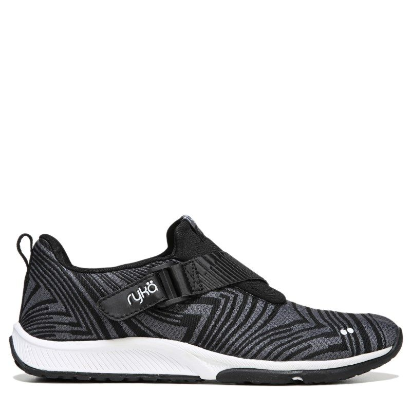 Black · Ryka Women's Faze Medium/Wide Training Shoes (Black/Grey/White) -