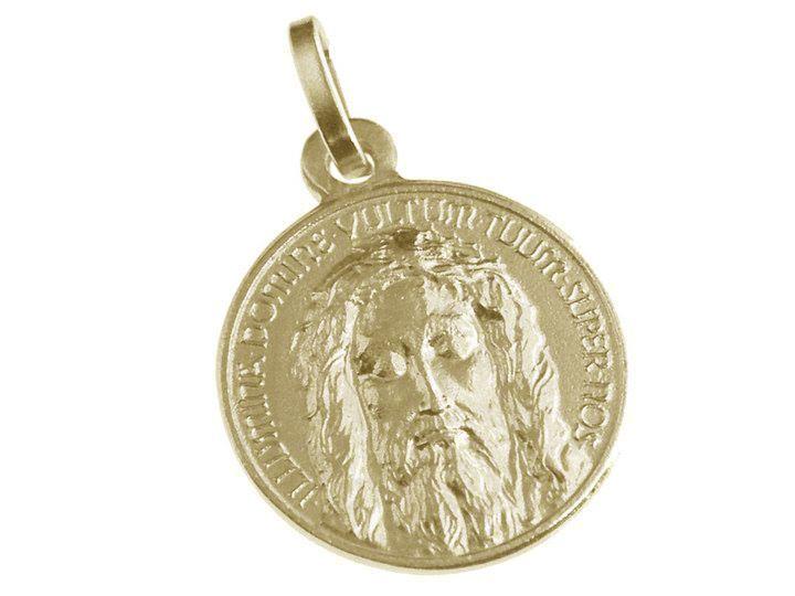 Medaglia del Santo Volto in oro giallo
