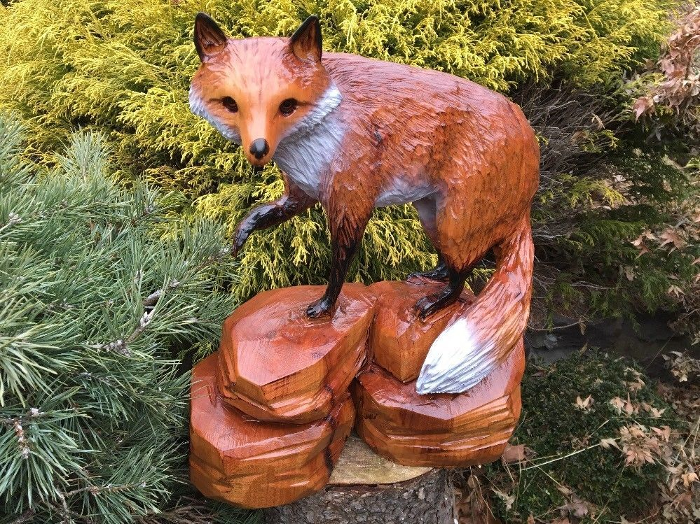 Details about chainsaw carving bear rustic wood furniture