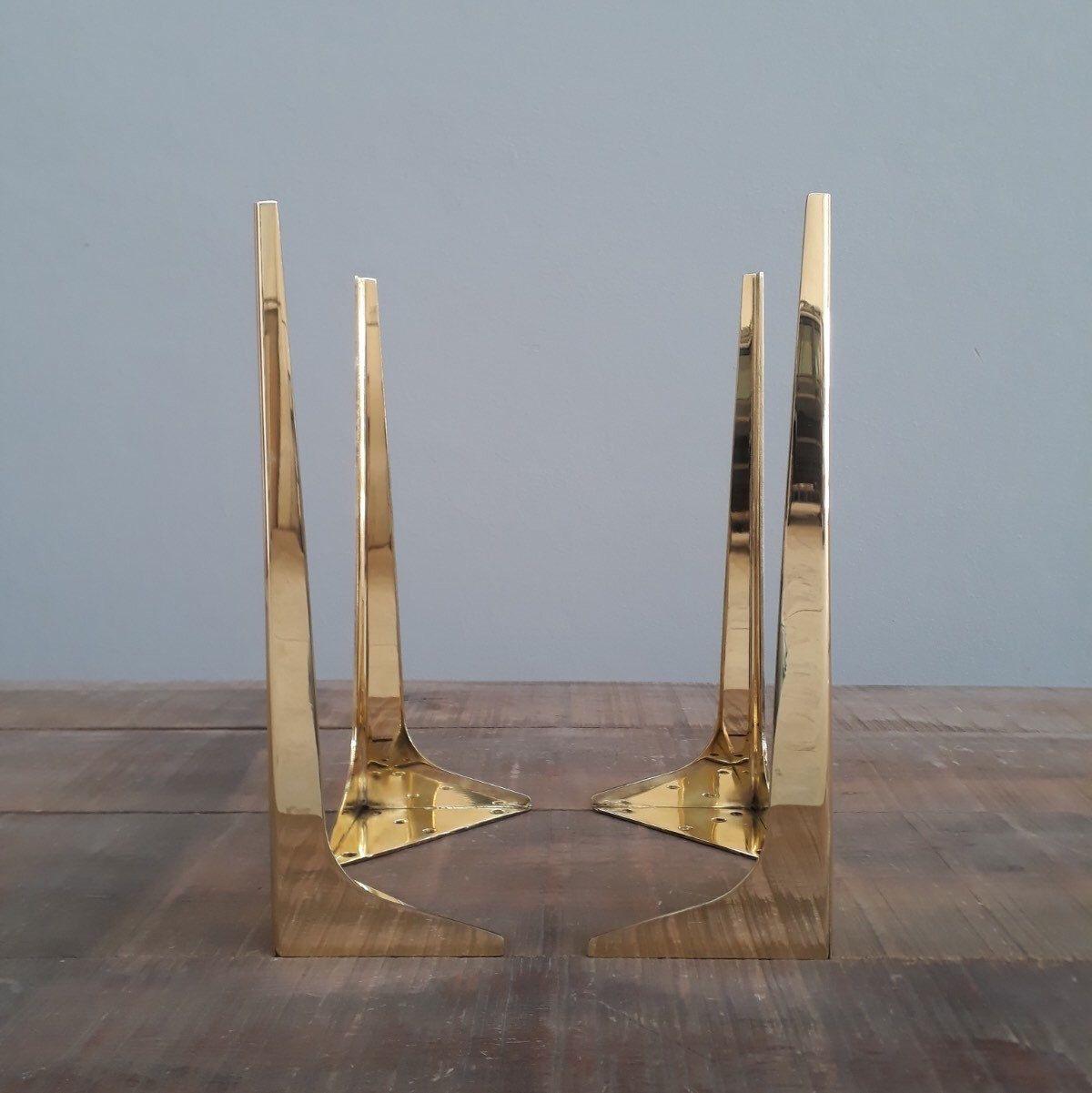 Brass Coffee Table Legs 16 Wings Metal Furniture Legs Etsy In