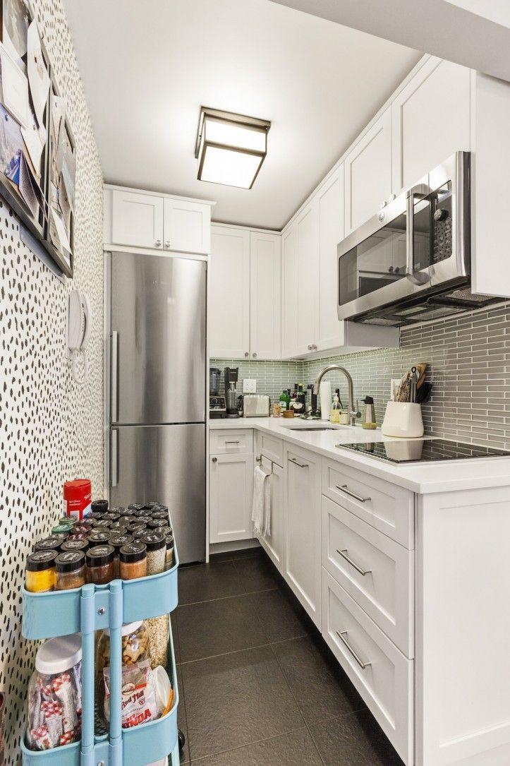 A Studio Apartment Turns Movie Set In Manhattan Kitchen Design Small Tiny House Kitchen Tiny Kitchen Remodel