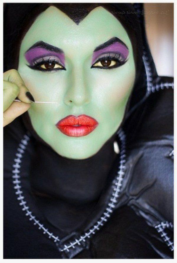 maquillage halloween sorciere