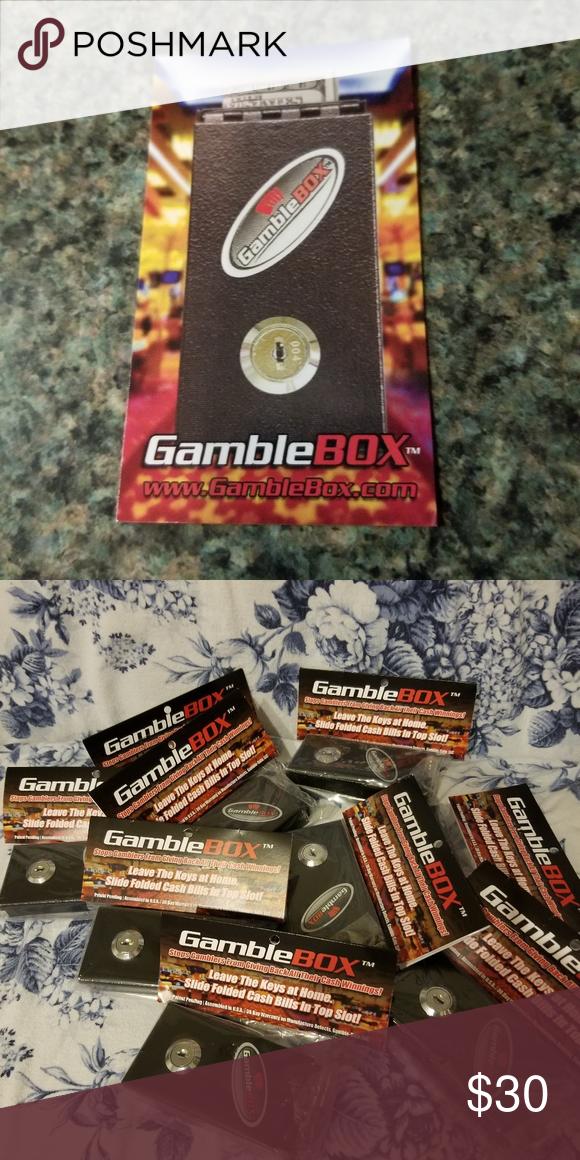 GAMBLE BOX Gamble Box Metal Pocket Sized Gambling Casino Piggy Bank