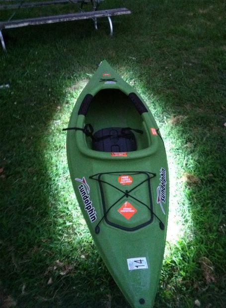 Diy kayak led lights lights fish and camping for Fish camping boat
