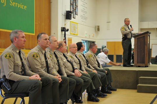 LA County Sheriff's ...looking zoned!!