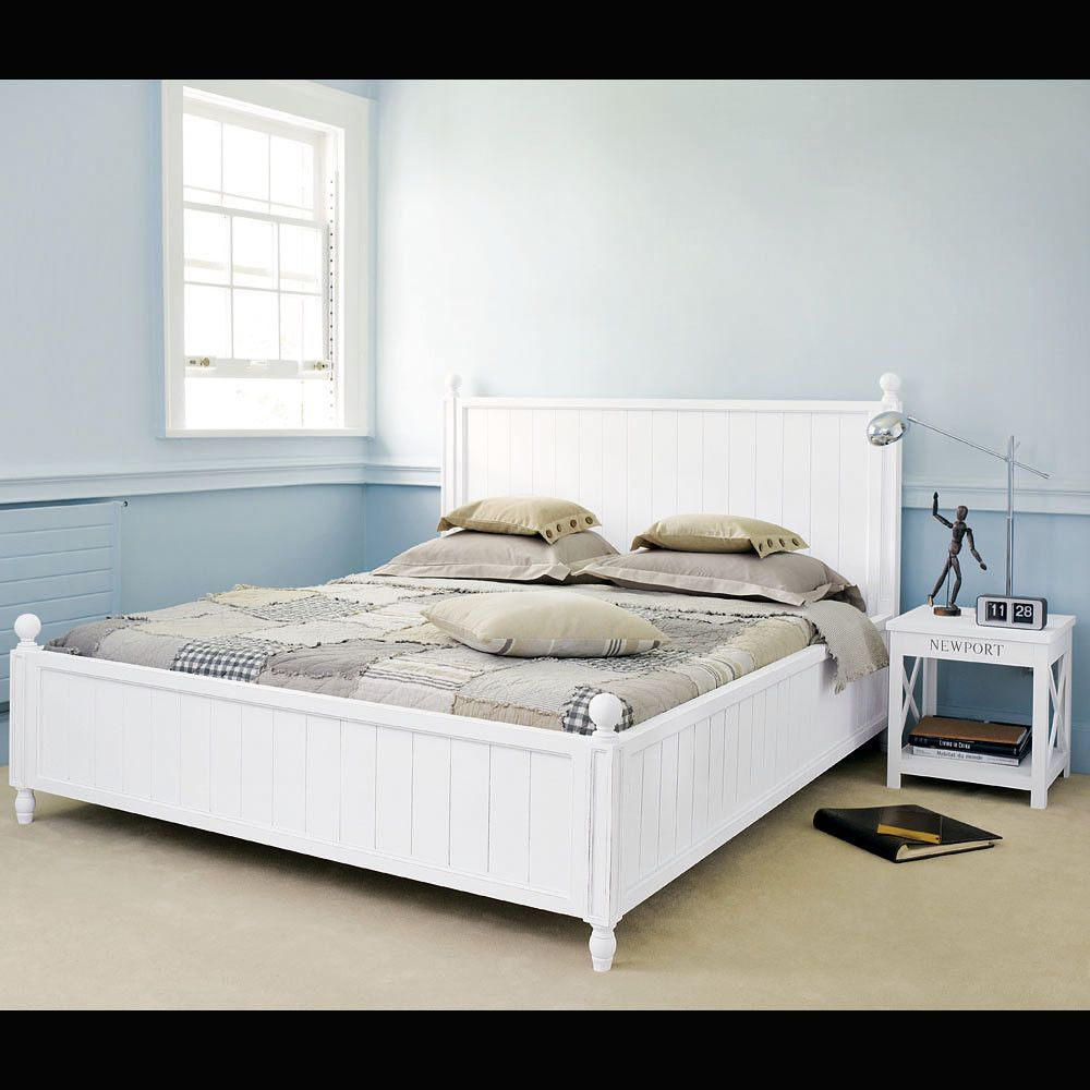 Bett aus Kiefer 160 x 200, weiß in 2019 Bett, Kiefer und