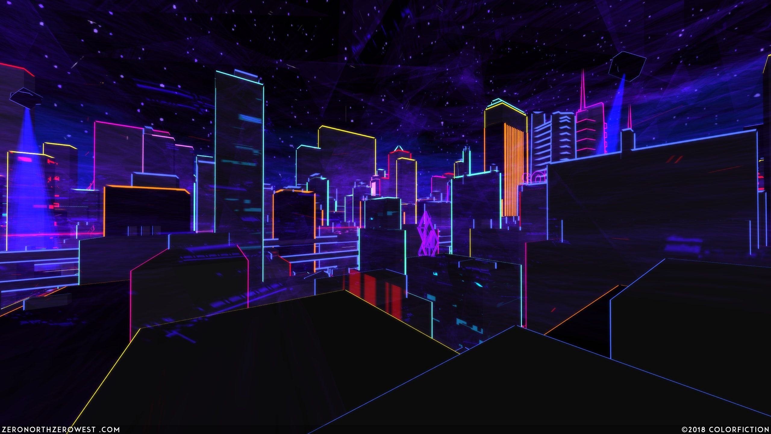 Neon City 2560x1440 With Images Neon Wallpaper Hd Wallpaper