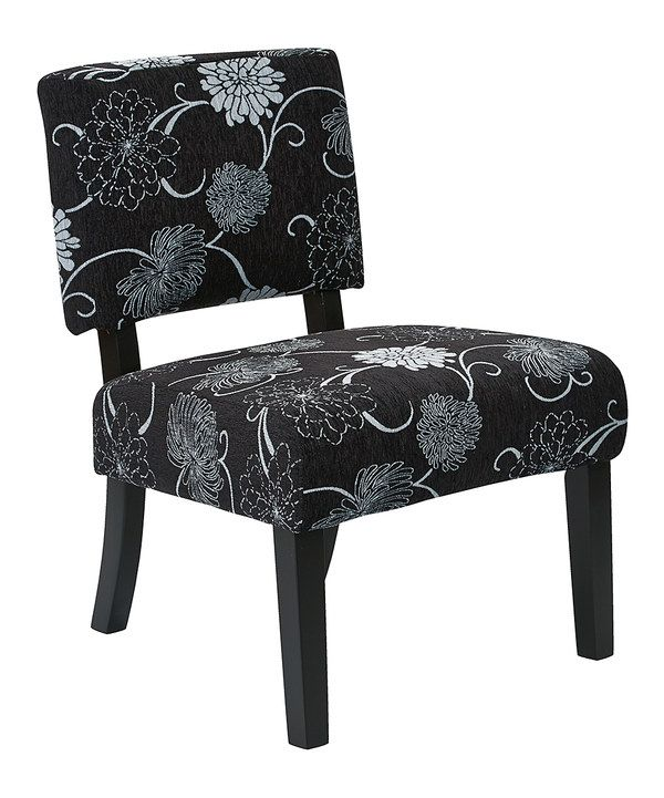 Look at this Black Flora Jasmine Chair on #zulily today!