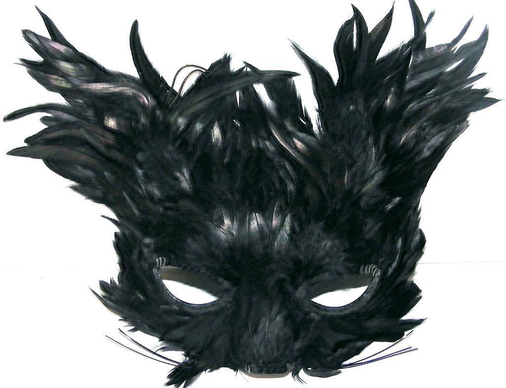 black-feather-creature-eye-mask-741-p.jpg (1024×785) | Mask-Face ...