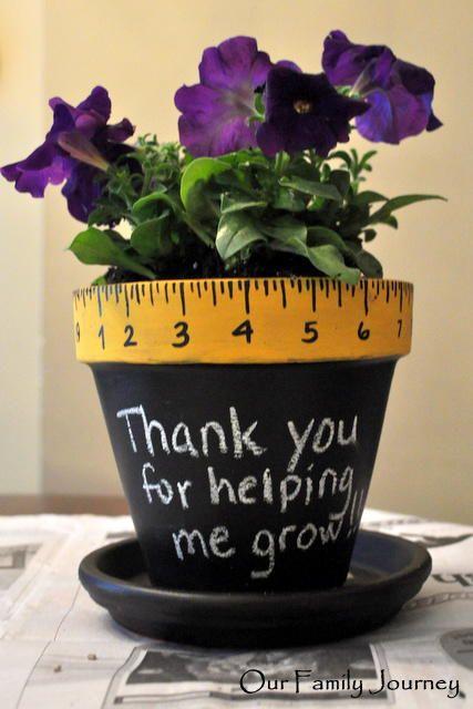 Teacher Thank You Potted Plant Thank You Teacher Gifts Teachers Diy Teacher Gifts