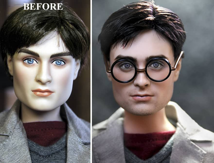 c3eab645f95 You Won't Believe These 23 Before-and-After Repaints Of Dolls | A ...