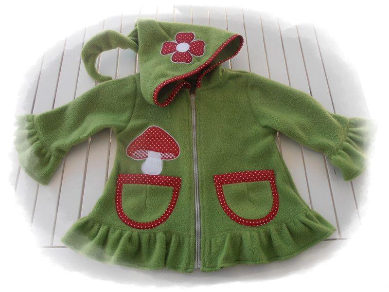 Jacken - Fleecejacke,Zipfeljacke,Zwergenjacke, - ein Designerstück von Suzy bei DaWanda