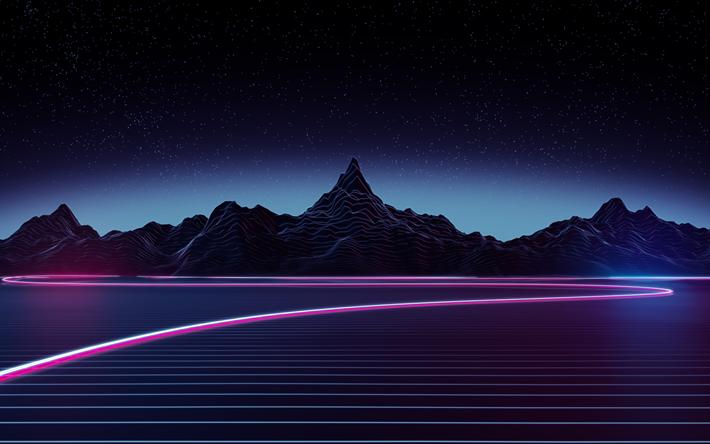 Download Wallpapers Neon Light 4k Nightscapes Mountains Besthqwallpapers Com Descargar Fondo De Pantalla Descargar Fondos De Pantalla Para Pc Fondos De Pantalla Estéticos