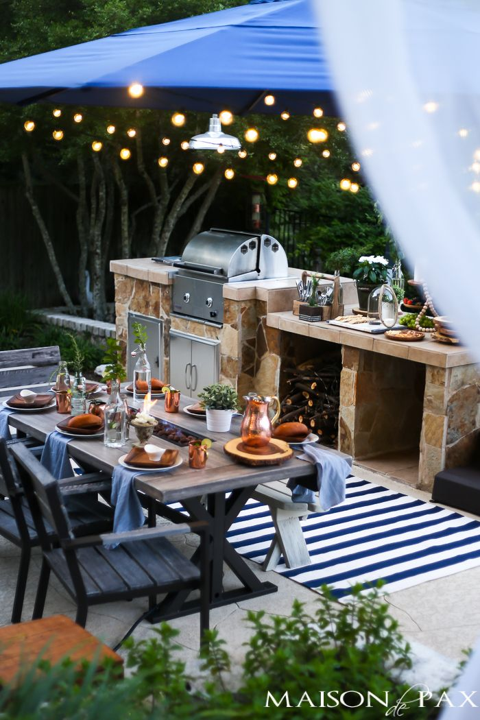 Summer outdoor dining space reveal outdoor dining for Outdoor patio space ideas