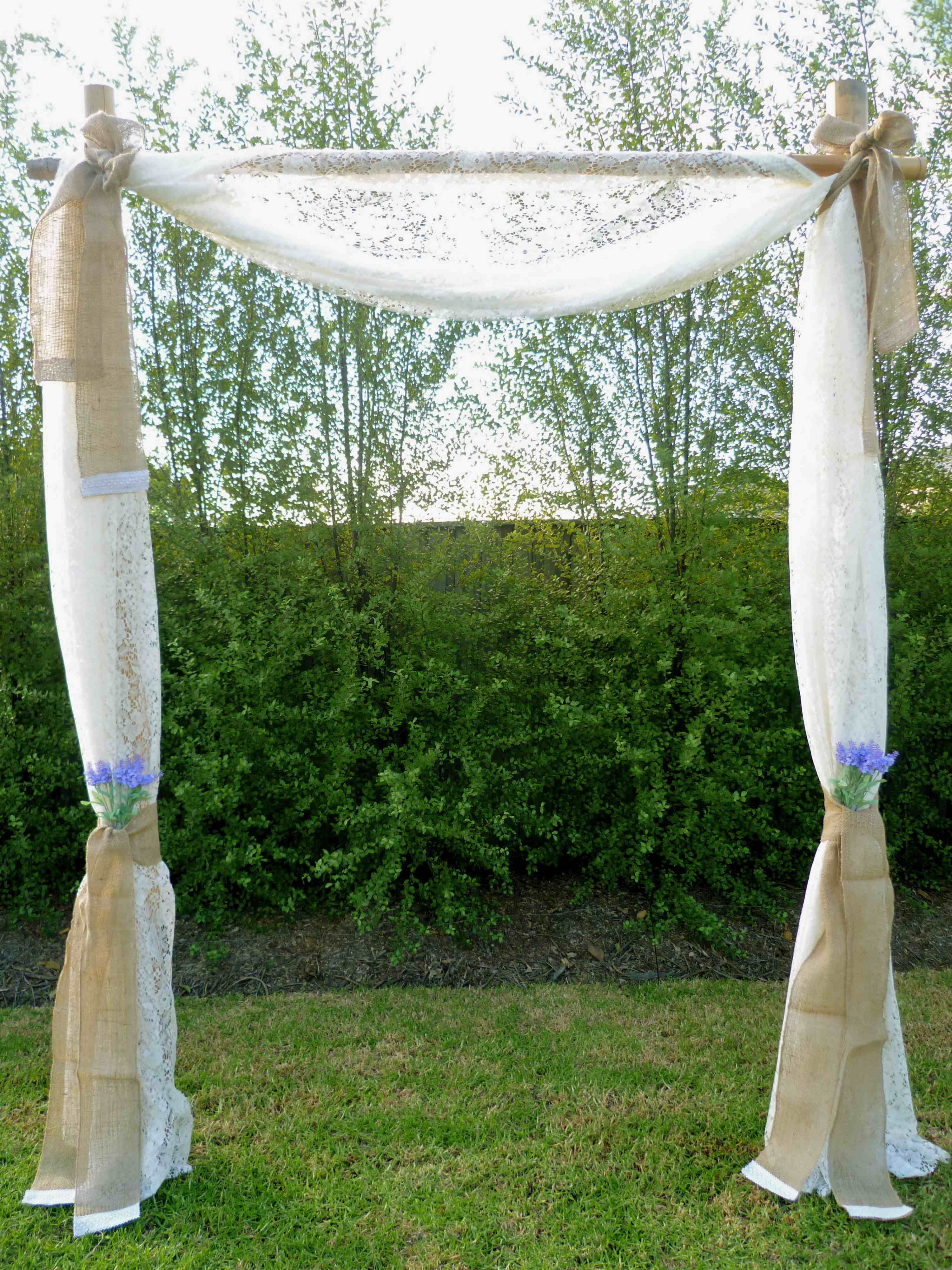 Create some rustic country charm with our arbour decorated with