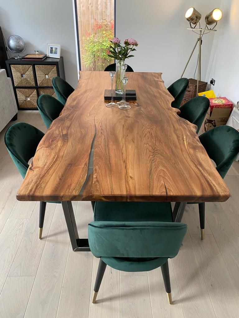 Live edge elm dining table