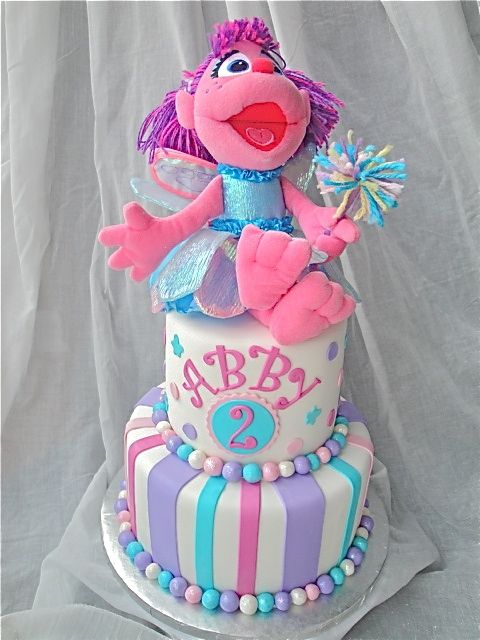 Abbys Abby Cadabby Cake By Amyvanderhaag Elmo Party Ideas - Elmo and abby birthday cake