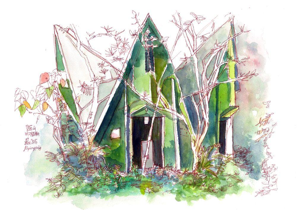 粉嶺 皇后山 印度廟 Fan Ling | Illustration art
