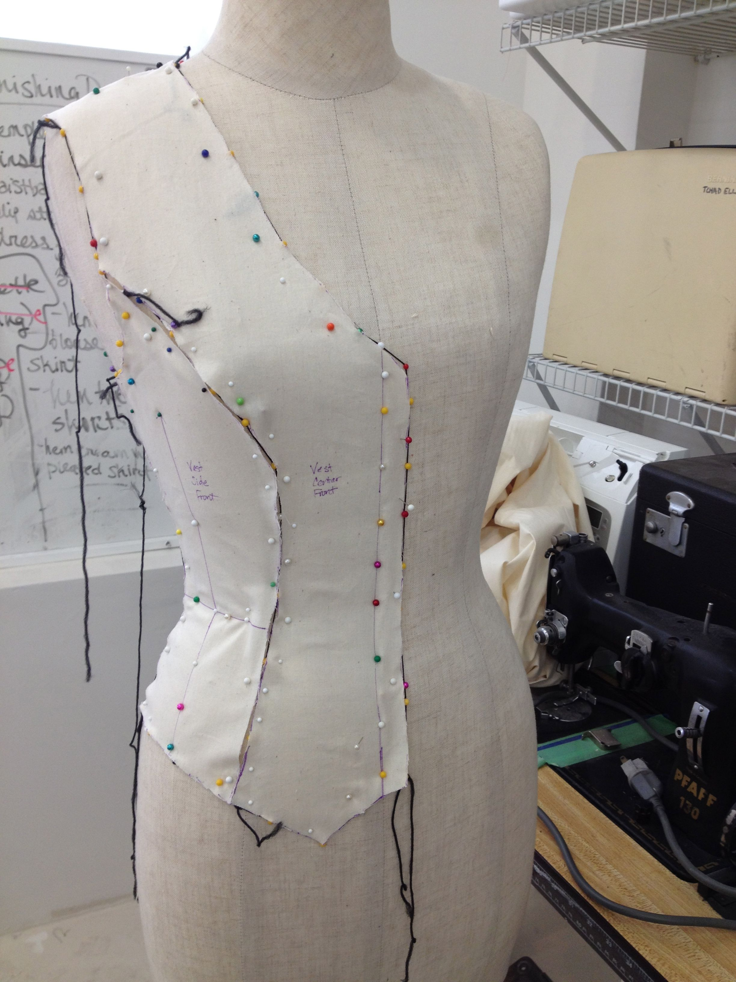 Draping a vest with princess seams. | Sewing | Pinterest