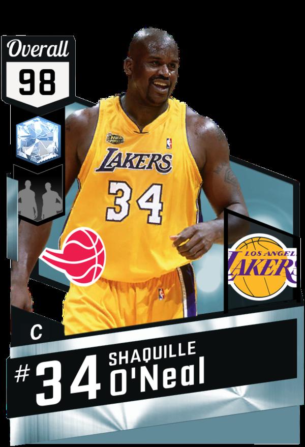 01 Shaquille O Neal 98 Myteam Pink Diamond Card Shaquille O Neal Nba Nba Sports