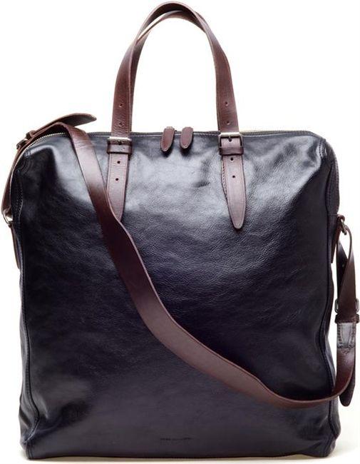 Dries Van Noten Leather Travel Bag
