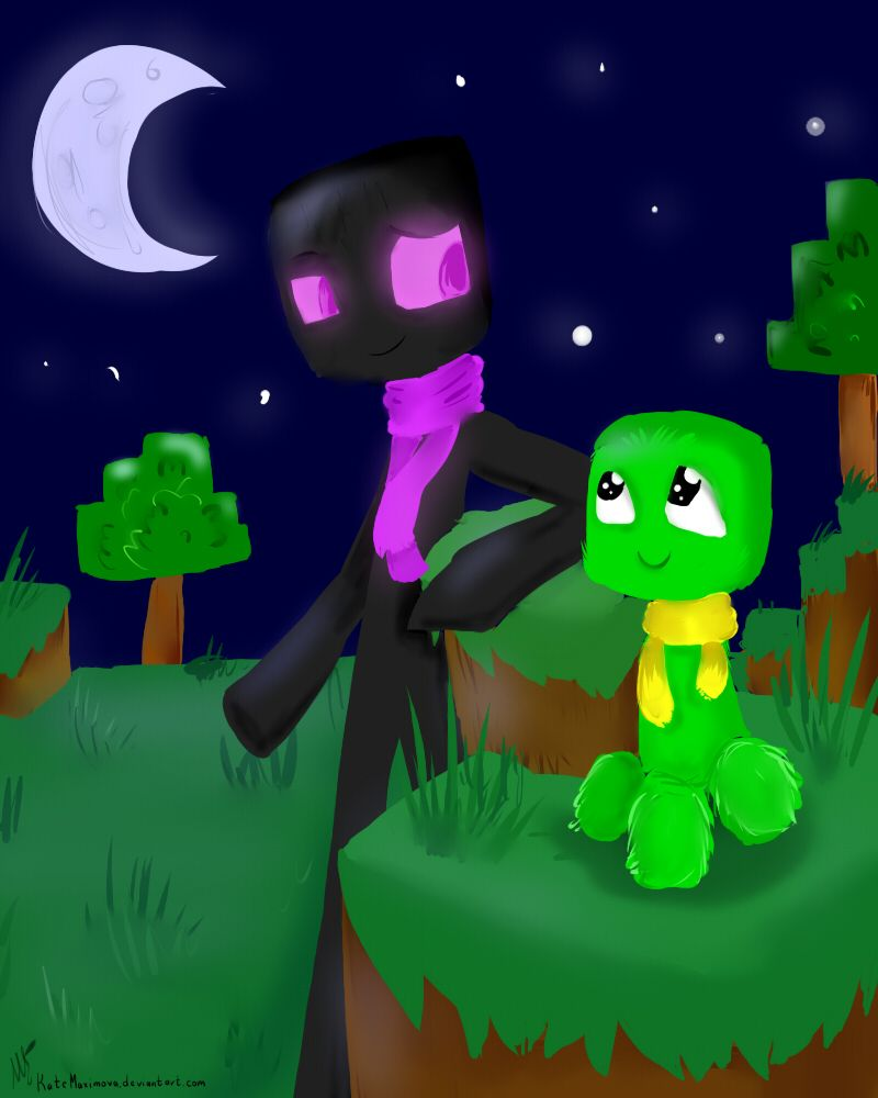 Enderman And Creeper By Katemaximova On Deviantart With Images