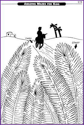 Jesus Donkey Ride Palm Sunday Maze Kids Korner Biblewise