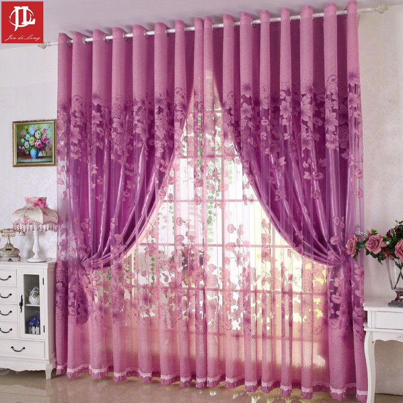 European And American Style Curtain Sets Burnout Home Curtains For ...
